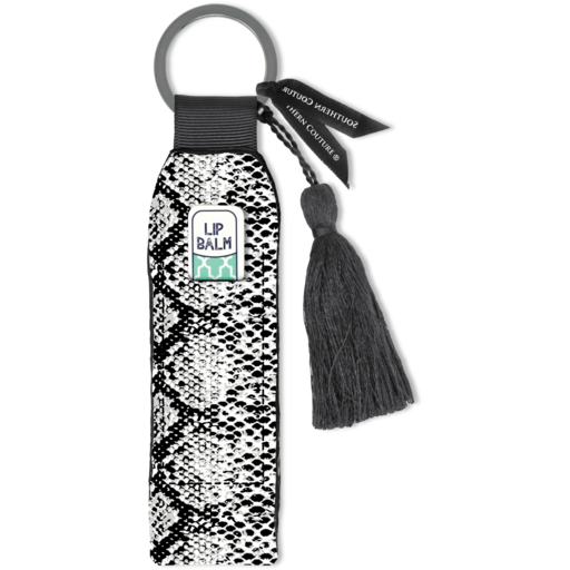 SC Black & White Snakeskin Key Chain
