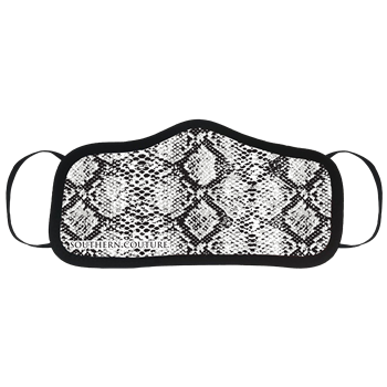 SC Personal Protective Mask-B/W Snakeskin