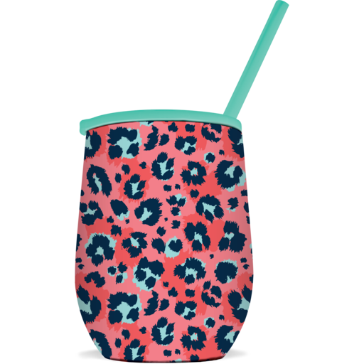 SC Tumbler-The Winee-Coral Leopard