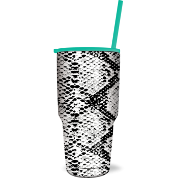 SC Tumbler-The Biggee-B/W Snakeskin
