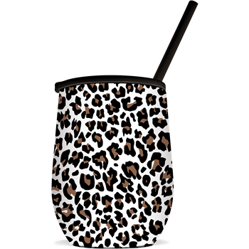 SC Tumbler-The Winee-White Leopard