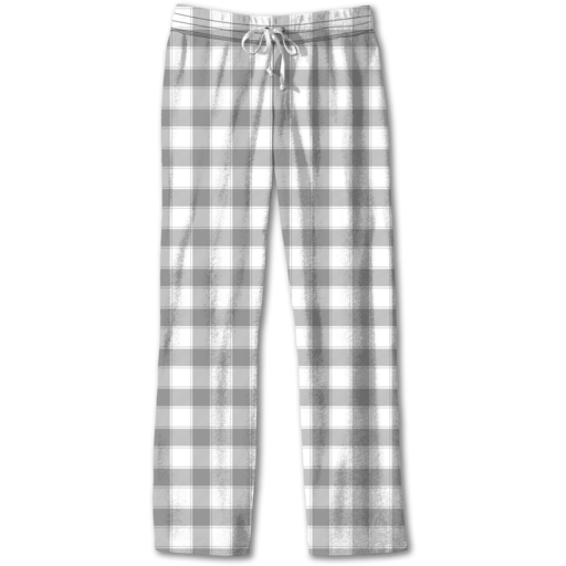 SC Lounge Pants-Grey/White Plaid