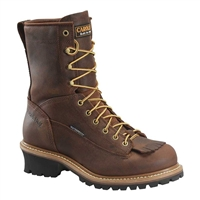 Carolina 8 Inch Waterproof Lace to Toe Logger Boots - CA8824