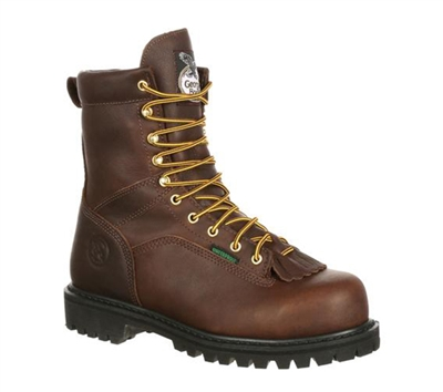 Georgia Boots Brown 8-Inch Logger Steel Toe Boots - G8341