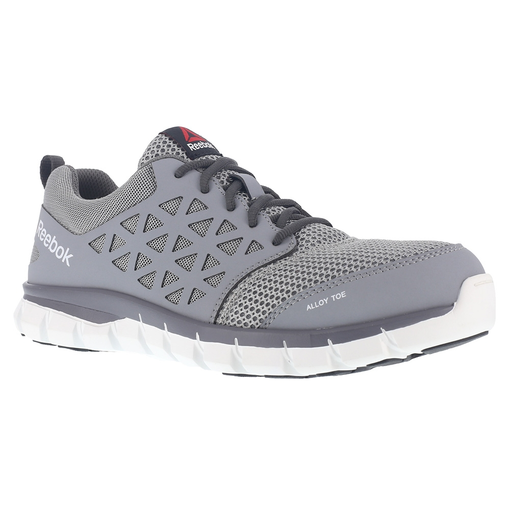 e1c389e3f37 Reebok Work RB4040 Grey Sublite Cushion Work Alloy Toe Work Athletic ...