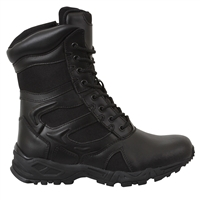 Rothco Black 8-Inch Forced Entry Deployment Side Zipper Boots - 5358