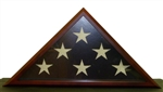 Display Flag Case - Quality Cherry Finish