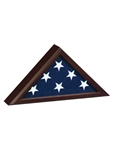 3' x 5' Capitol Flag Case - Quality Cherry Finish