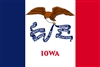 Iowa State Flag Monsoon Heavy Duty