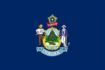 Maine State Flag Monsoon Heavy Duty