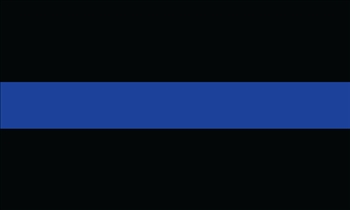 Thin Blue Line Flag Solid
