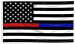Thin Red & Blue Line American Flag