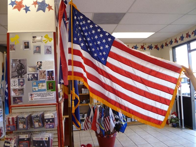Fringed US Indoor Flag Set