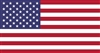 Poly Cotton Printed American Flag - Made In America