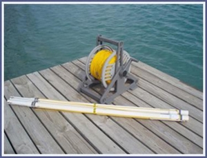 55 Meter pregate addition - Poly rope includes: The line for both ends and 2 pregate PVC sections with buoy lines. (4 buoys not included)