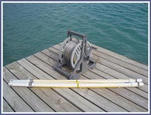 55 Meter pregate addition - Stainless steel includes: The line for both ends and 2 pregate PVC sections with buoy lines. (4 buoys not included)