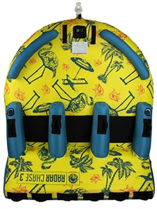2019 Radar Skis The Chase Lounge - Tropical / Yellow / Blue - 3 Person Tube