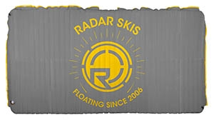 2019 Radar Skis Cloud Water Mat - Silver / Yellow -  5' x 10'