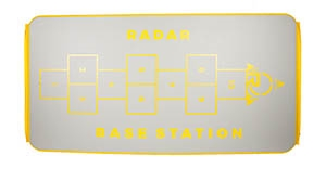 2019 Radar Skis Base Station Drop Stitch Mat - Silver / Yellow - 5' x 10'
