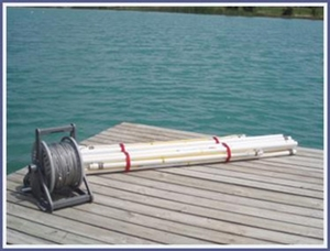 Slalom Course Set - 6 Buoy Vinyl Coated Stainless Steel Mainline (Buoys and Anchors not included)