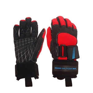 Miami Nautique Water Ski Gloves in Red/Black