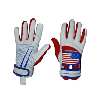 Miami Nautique Water Ski Thin Gloves in American Flag (v 2)