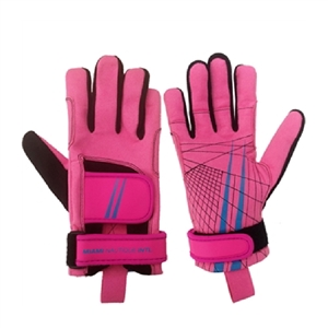 Miami Nautique Water Ski Thin Gloves in Pink (v 2)