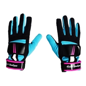 MIAMI VICE EDITION - Miami Nautique Water Ski Thin Gloves in Black, Neon Pink & Blue (v 2)