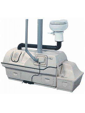 Centrex 3000 AC/DC extra high capacity central system composting toilet by Sun-Mar