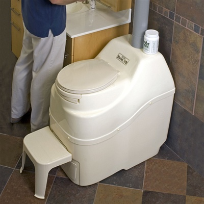 Excel AC/DC self contained high capacity composting toilet by Sun-Mar