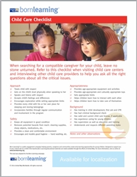 "<span style=""font-weight: bold;""><br><br>30337   Born Learning  Parent Tools - Child Care Checklist </span>  <br><ul>"