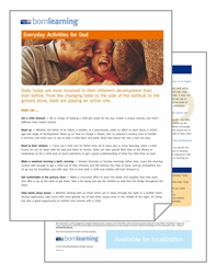 "<span style=""font-weight: bold;""><br><br>30338   Born Learning  Parent Tools - Everyday Activities for Dads </span>  <br><ul>"
