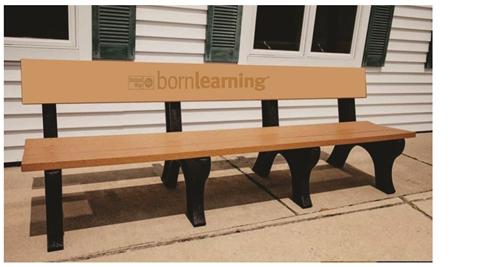 60900 8 Foot Born Learning Bench on heavy duty bench, 9 ft bench, square bench, portable bench, electronic bench, 6 foot bench, work bench, 8 ft storage bench, kitchen bench, 5 foot bench, glass bench, 36 inch bench, outdoor wooden memorial bench, aluminum bench,