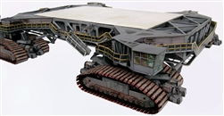 Crawler Transporter for Launch Umbilical Tower (LUT)  Model Kit in 1:100 scale for  Dragon, Estes or any 100 Saturn V Model.  The unbuilt heavy paper model has won accolades around the world since 2006 for accuracy and realism and designed to bear loads.
