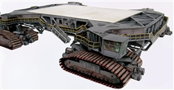Crawler Transporter for Launch Umbilical Tower (LUT)  Model Kit in 1:110 scale for Lego or any 144 Saturn V Model.  The unbuilt heavy paper model has won accolades around the world since 2006 for accuracy and realism and is designed to bear the load.