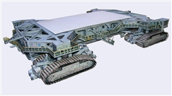 Space Shuttle Crawler Transporter model kit, for MLP and Revell brand Shuttle with Boosters or any 1:144 scale model (not incl.)  The unbuilt heavy paper design has won accolades globally since 2009 and bears all loads well.  Realistic, just like at KSC.