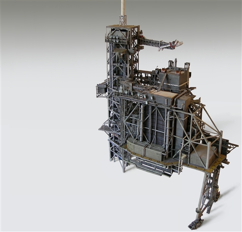 1:72 Space Shuttle Launch Complex 39A Heavy Paper Model Kit for Revell  w/Boosters Stack or Any Like Scaled 1:72 Model