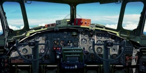 B-17 G INSTRUMENT PANEL, FLIGHT DECK LIFE-SIZED POSTER