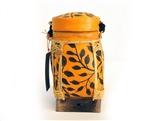 Hand Painted Spun Bamboo Rice Container