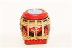 SPUN BAMBOO CANDLE HOLDER