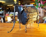 HANDMADE METAL ART+ WOOD - ELEPHANT