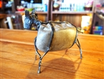 HANDMADE METAL ART + STONE - COW