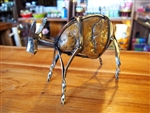 HANDMADE METAL ART + STONE - BUFFALO