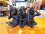 HANDMADE RESIN 3  WISE MONKEYS