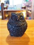 RESIN OWL WITH LID