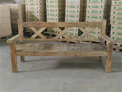 "201cm/79"" Mutt Recycled Teak Bench #0028"