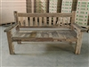 "175cm/69"" Mutt Recycled Teak Bench #0030"