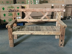"173cm/68"" Mutt Recycled Teak Bench #0033"
