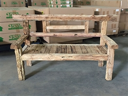 "183cm/72"" Mutt Recycled Teak Bench #0034"