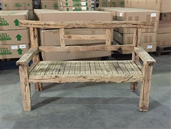"182cm/72"" Mutt Recycled Teak Bench #0037"
